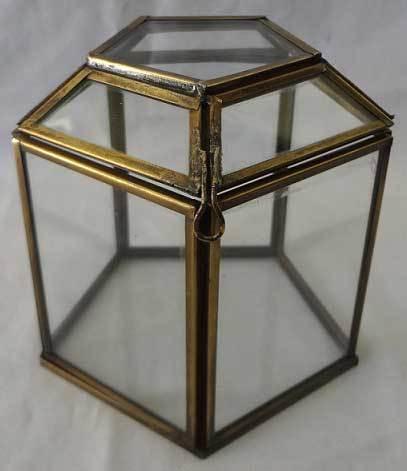 Glass &  Brass Storage Box