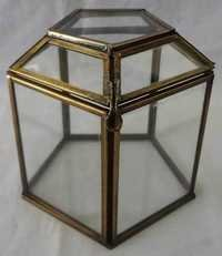 Glass &  Brass Storage Box