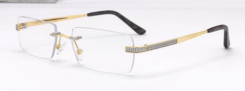 Diomond Studded Unisex Gold Frames