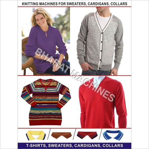 Sweaters,Cardigans & Collar Knitting Machines
