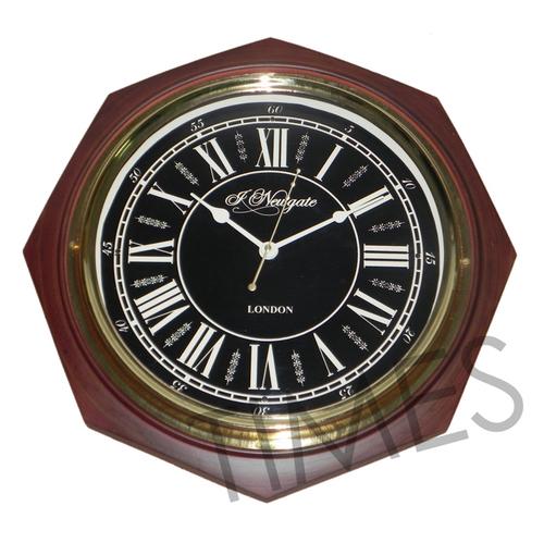 Nautical Wall Clock Brown
