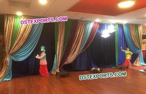 Colourful Wedding Pleeted Backdrop