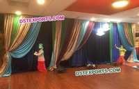 Colourful Wedding Pleeted Backdrop