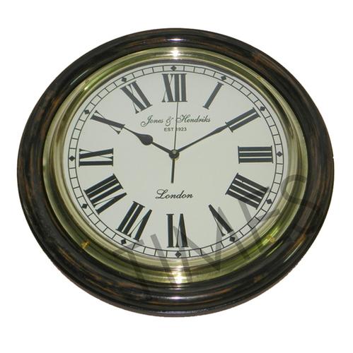 Nautical Wall Clock Black