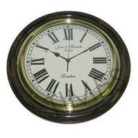 Nautical Wall Clock Black