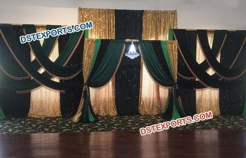 Wedding Reception Stage Backdrop Curtain