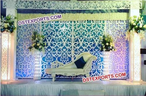 Wedding White Wooden Backdrop Panel