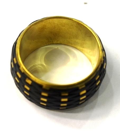 BLACK DESIGNER METAL NAPKIN RING