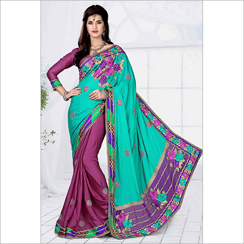 Ladies Heavy Embroidery Saree