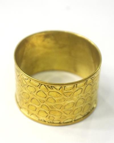 SMALL PRINT METAL NAPKIN RING