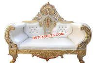 Designer Wedding Gold Plated Sofa