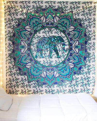 Elephant Print Tapestry