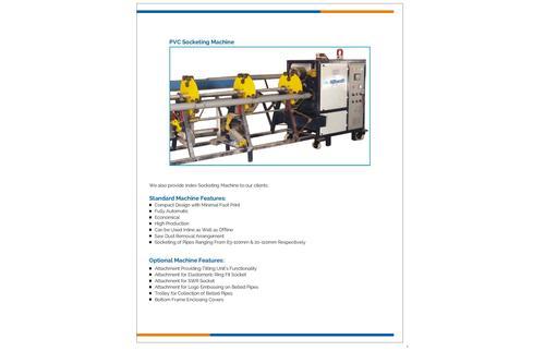 PVC Pipe Socketing Machine