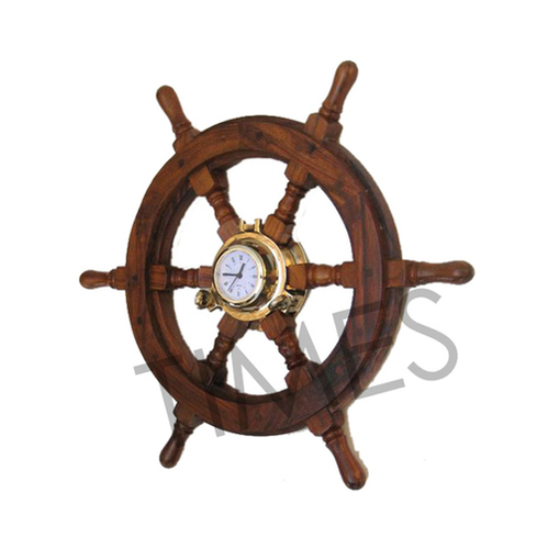 Nautical Ship Wheel Wall Clock