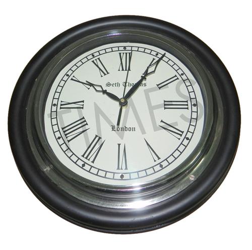 Nautical Black Wall Decor Clock