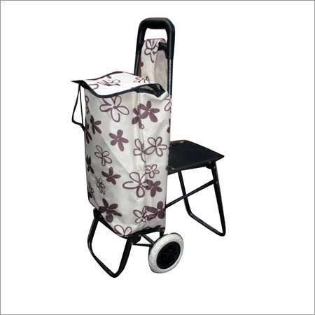 Metal Folding Chair Shopping Trolley Bag