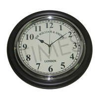 Nautical Black Wall Clock