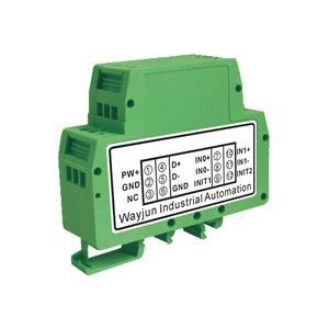16bits 2-CH 4-20mA/0-10V/0-5V to RS485/232 green A/D Converters
