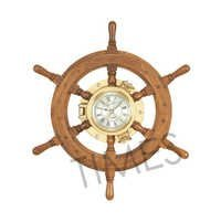 Nautical Ship Wheel Wall Clock