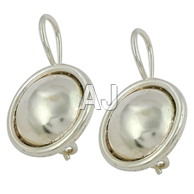 Plain Silver Earrings