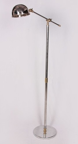 STEEL AND BRASS FLOOR LAMP