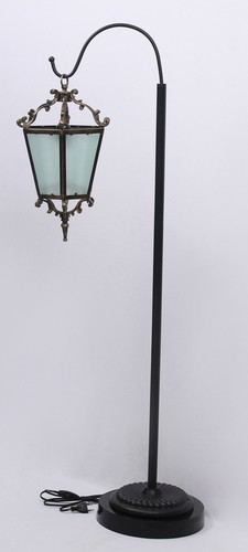 Iron And Brass Lantern Floor Lamp