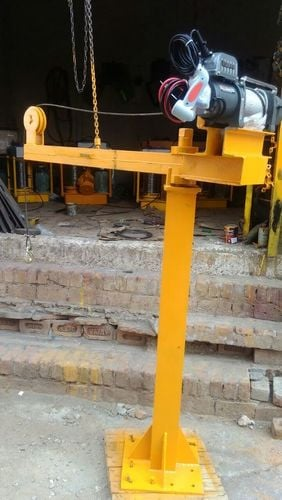 Jib Crane With Battery Operated Winch Length Of Belt: 24-32  Meter (M)