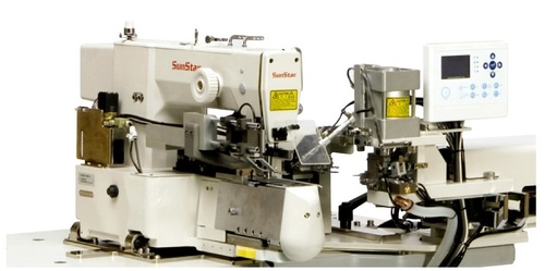 Direct Drive, Electronically Controlled, 2-Needles, Sewing Machine for Belt Loop Attachment