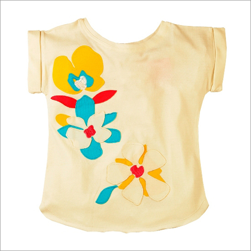 Kid Girls Applique Top