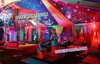 Decorated Punjabi Wedding Mehandi Sangeet Stage