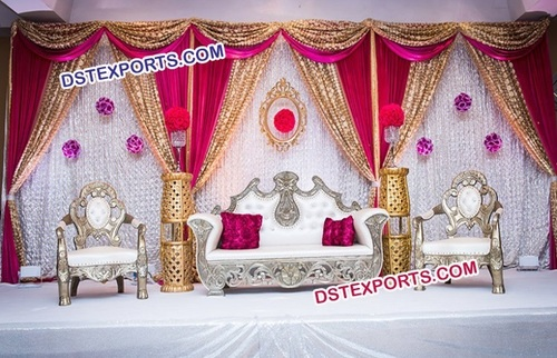 Silver Plated Designer Wedding Furniture