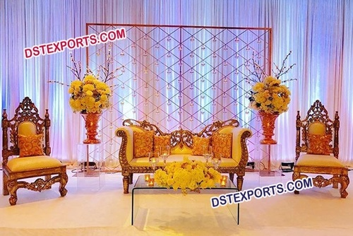 Royal Wedding Pakistani Stage Furniture