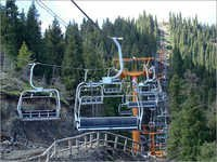 Four People Hanging Cableway
