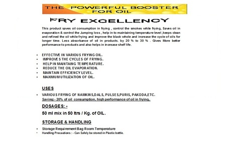 Fry Excellency Additives For Frying Oil