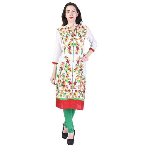 Rayon Embroidered Kurtis