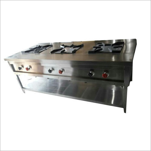 Commercial Kitchen Three Burner Range