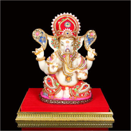 Silver Plated Ganesh Statue