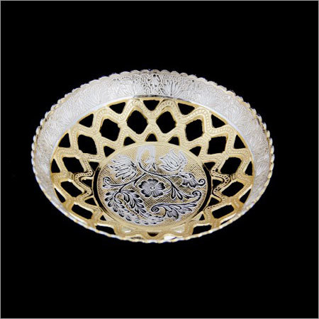 Silver And Gold Plated Fruit Bowl