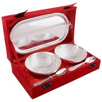 Silver Plated Bowl Set (2+1)