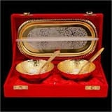 Silver And Gold Plated Bowl Set (2 1)