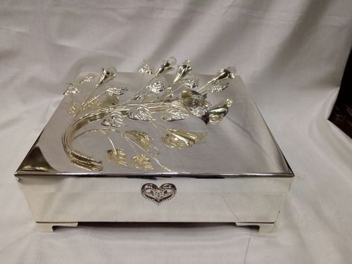 Silver Coated Jewellery Box