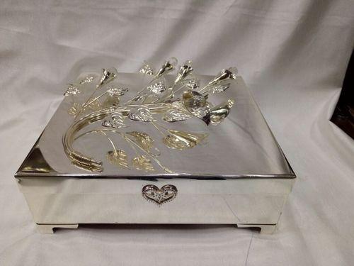 Silver Coated Jewellery Box