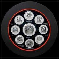 Ashtavinayak Frame Pure Silver