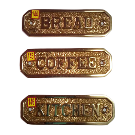 Brass Alphabet Sign Plates