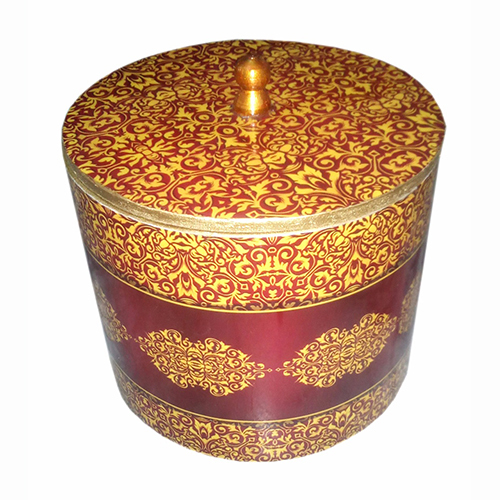 Printed Wooden Round Box