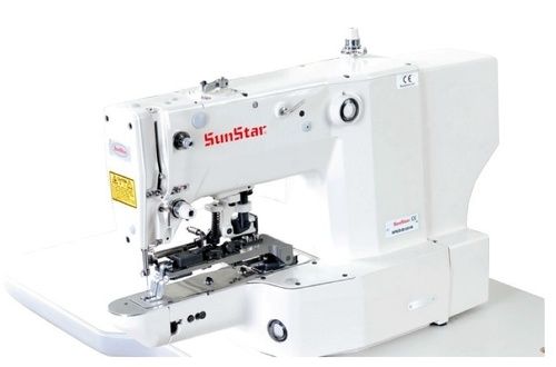 Electronically Controlled, Bartack Sewing Machine with Vent Hole Pattern