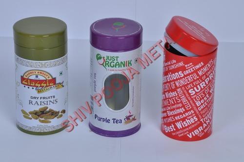 Tea Round Can