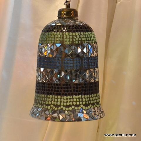 Mosaic Art Colorful Glass Hanging Pendant Light