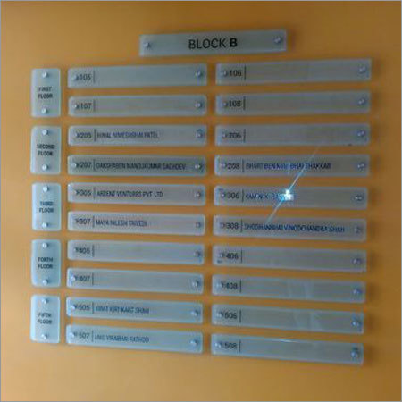 Glass Name Plate
