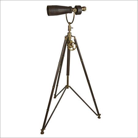 Binoculars on Tripod leather stand